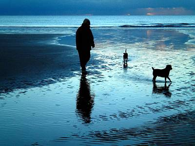 Walking The Dog Digital Art - Lady With The Little Dogs by Russ Murry
