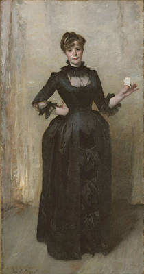 Lady With The Rose - Charlotte Louise Burckhardt Print by John Singer Sargent