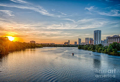 Ladybird Lake At Sunset Print by Tod and Cynthia Grubbs