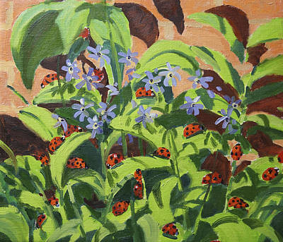 Ladybirds Print by Andrew Macara