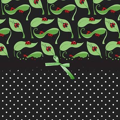 Ladybug Digital Art - Ladybug Connection by Debra  Miller
