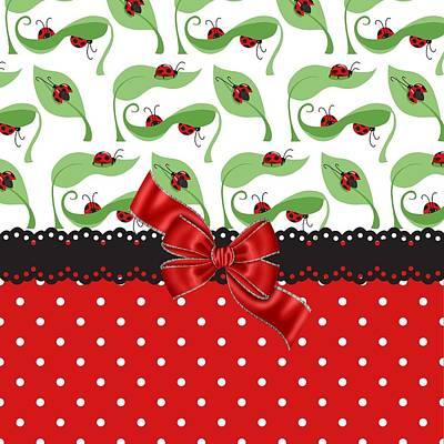 Ladybug Digital Art - Ladybug Delight  by Debra  Miller