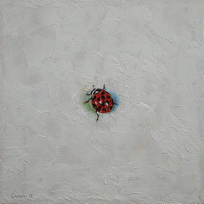 Beetle Painting - Ladybug by Michael Creese