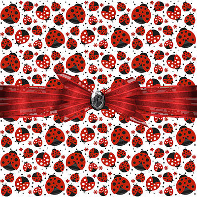 Ladybug Digital Art - Ladybug Obsession  by Debra  Miller