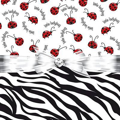 Ladybug Digital Art - Ladybug On The Wild Side by Debra  Miller
