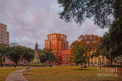 Lafayette Square New Orleans Downtown - Lousiana Print by Silvio Ligutti