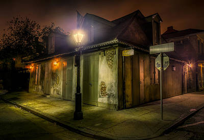 Street Photograph - Lafittes Blacksmith Shop by David Morefield