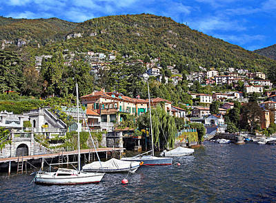 Lago Di Como The Jewel Of Lombardy Print by Marc Henderson