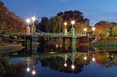 Cityscape Photograph - Lagoon Bridge In The Boston Public Garden  by Juergen Roth