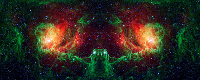 Lagoon Nebula Reflection Print by The  Vault - Jennifer Rondinelli Reilly