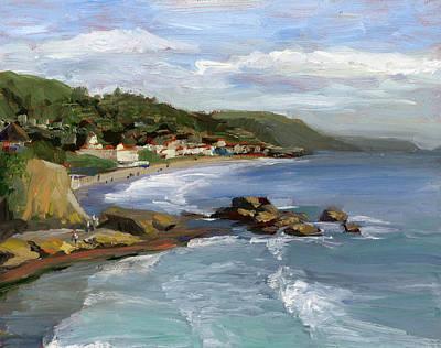 Rocky Painting - Laguna Beach by Alice Leggett