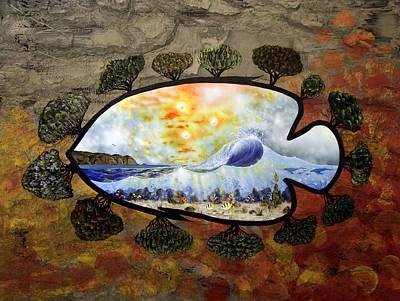 Trees Painting - Laguna Beach Dream 2 by Sam Lea