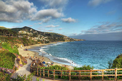 Laguna Beach Shoreline Print by Eddie Yerkish