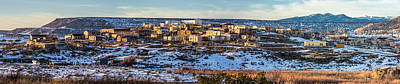 Winter Afternoon Laguna Pueblo - Native American Pueblo Photograph Print by Duane Miller