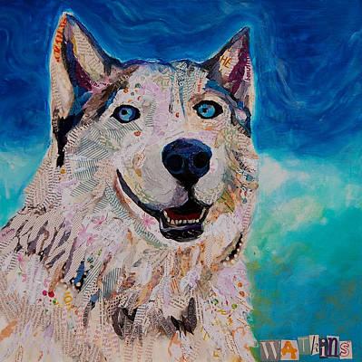 Arctic Dog Painting - Laika by Beth Watkins