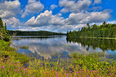 Aspens Photograph - Lake Abanakee In Indian Lake New York by David Patterson