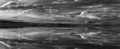 Mystic Lakes Photograph - Lake Abert 11 Black And White by Leland D Howard