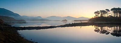 Connemara Photograph - Lake At Dawn, Derryclare Lake by Panoramic Images