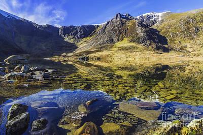 Snowdon Photograph - Lake At Dawn by Ian Mitchell