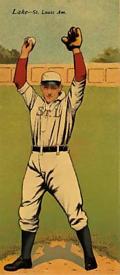 Detroit Tigers Digital Art - Lake Baseball Card by David Letts
