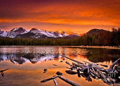 A Sunny Morning Photograph - Lake Bierstadt In The Morn by Steven Reed