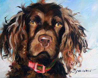Boykin Spaniel Painting - Lake Boy by Mary Sparrow