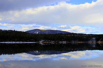 Lake Britton Reflections Print by Yvonne Jordan-Sherwood