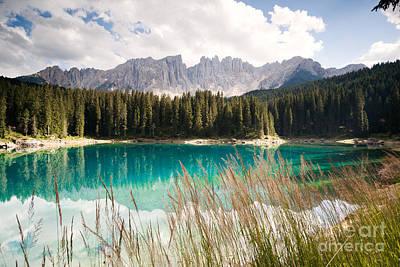 Landscape Photograph - Lake Carezza In The Dolomites by Matteo Colombo