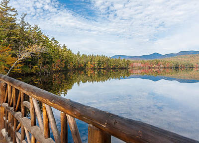 Lake Chocorua And Mount Chocorua From Bridge  Print by Karen Stephenson