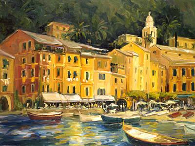 Lake Como Painting - Lake Como Hotel by Allayn Stevens