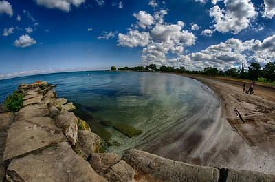 Bluesky Photograph - Lake Erie. Edgewater Park by Michael Demagall