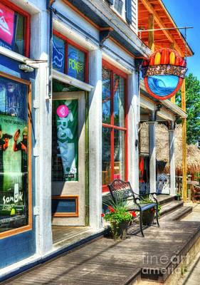 Window Bench Photograph - Lake Erie Surf Shop by Mel Steinhauer