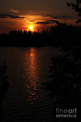 Orange Photograph - Lake Four Sunset by Larry Ricker