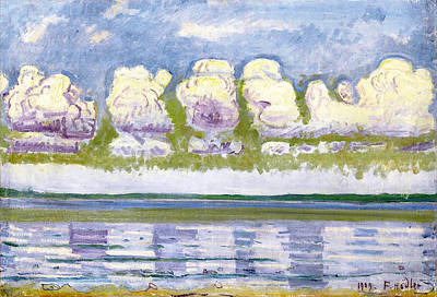 Ferdinand Hodler Painting - Lake Geneva With Jura. Landscape Rhythm Of Forms by Ferdinand Hodler