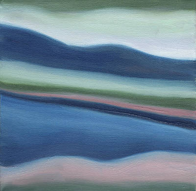 Contemplative Painting - Lake George Serenity by Emily Freiman