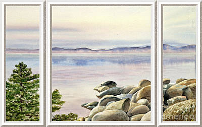 Lake House Window View Print by Irina Sztukowski