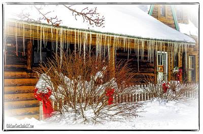 Landscape Photograph - Lake Huron Cabins In Winter by LeeAnn McLaneGoetz McLaneGoetzStudioLLCcom