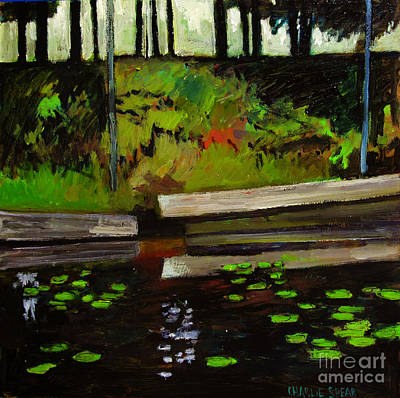 Lake In The Woods Print by Charlie Spear