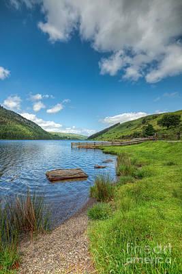 Pier Digital Art - Lake In Wales by Adrian Evans