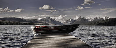 Montana Digital Art - Lake Mcdonald by Ellen Heaverlo
