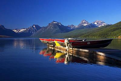 Lake Mcdonald Morning Print by Mark Kiver