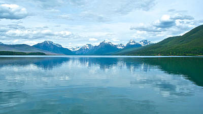 Lake Mcdonald Reflection In Glacier  National Park-montana Original by Ruth Hager