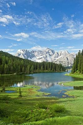 Dolomite Photograph - Lake Misurina by Bob Gibbons