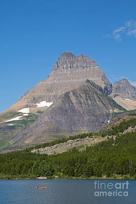 Lake Sherburne In Glacier National Park Print by Natural Focal Point Photography