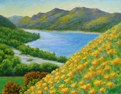 Lake Sonoma Poppies Print by David LeRoy Walker