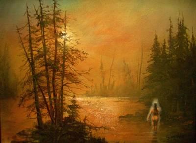 Halloween Painting - Lake Spirit by Tom Shropshire