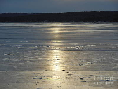 Lake Sunset 10 Print by Ingrid L