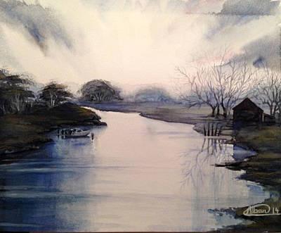 Lake Sunset Original by Alban Dizdari