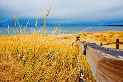 Overcast Photograph - Lake Superior Beach by John McGraw