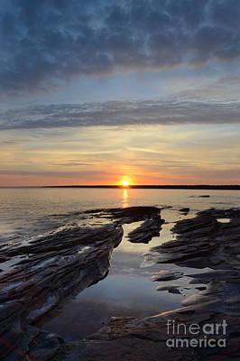 Lake Superior Sunrise Print by Jill Battaglia
